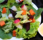 Mesclun lettuce with Carrots and Radish