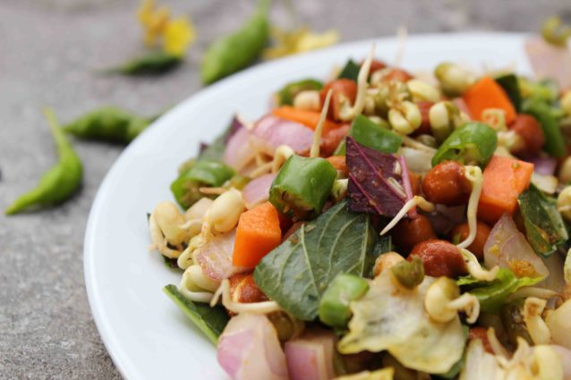 spicy sprouts salad
