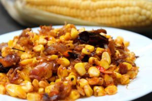 corn and coconut masala
