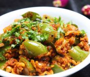 bell peppers and peanut masala