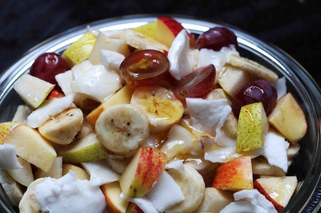 tender coconut and fruit salad