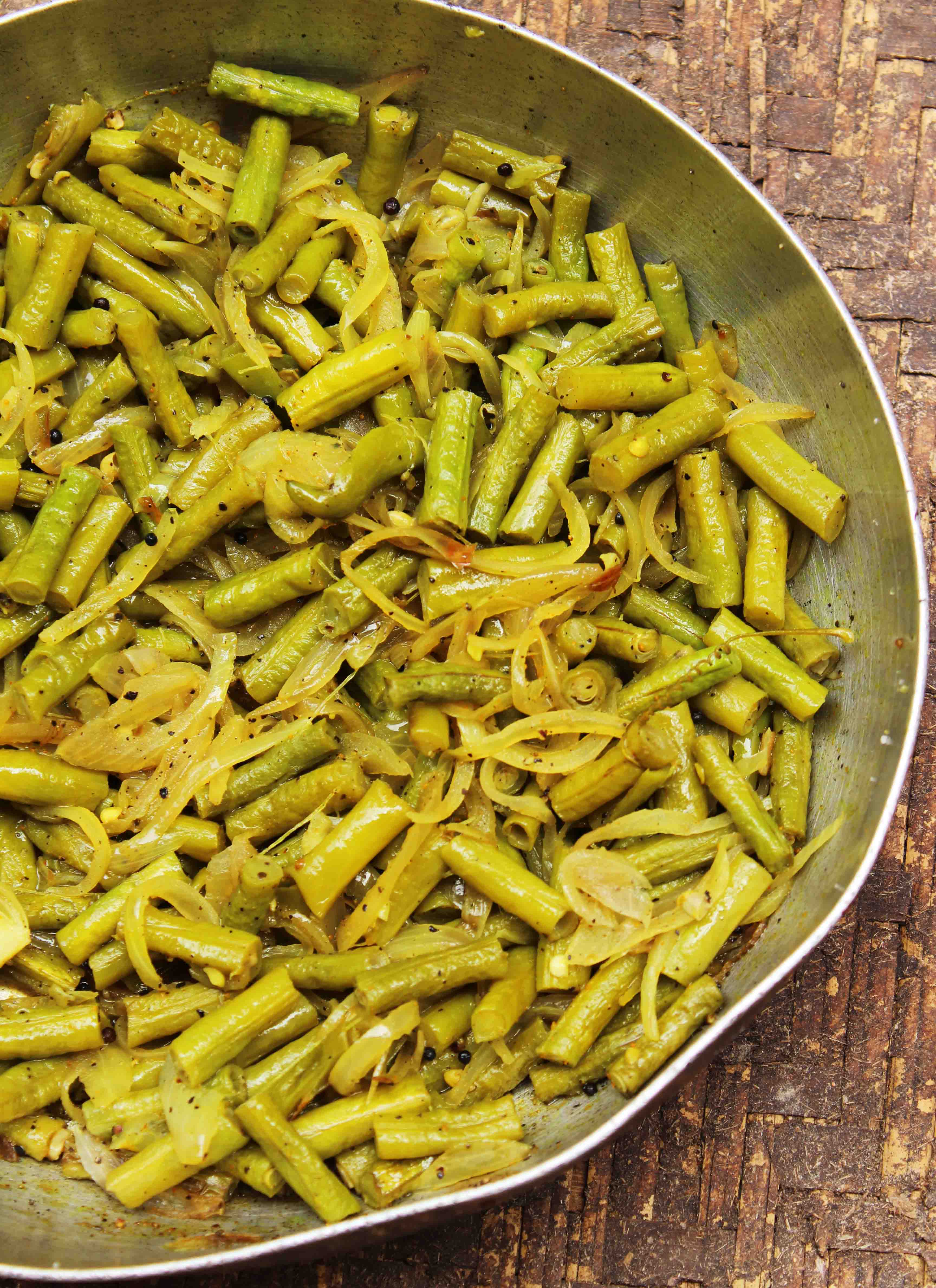 masala roasted green beans