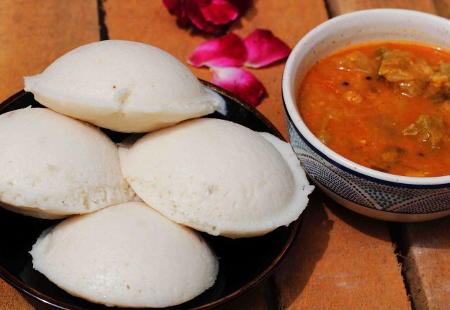 Idli and sambar