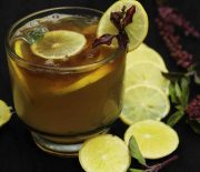 lemon and tulsi drink