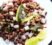 kala chana and coconut stir fry