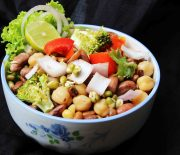Beans and broccoli salad
