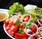 mixed beans and mixed vegetable salad