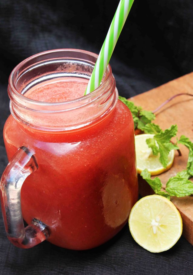 Watermelon, Mint and Lemon Juice
