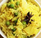 Potato, Green Peas,  Pulao Recipe