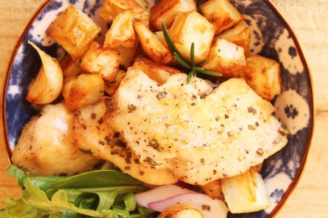 Garlic, Rosemary Roast Chicken Breast