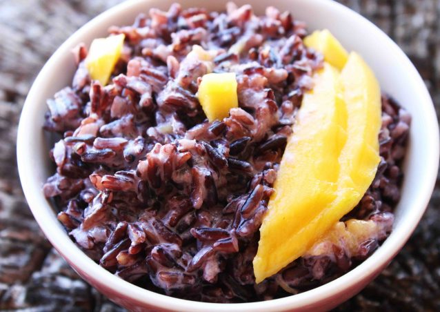 Black Rice Pudding with Mango and Cardamom