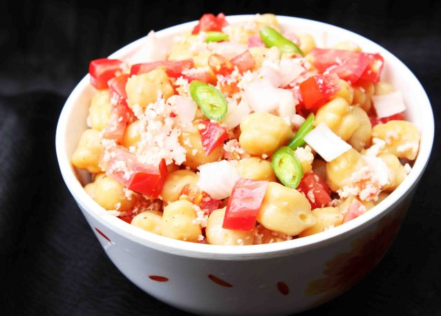 Kerala Style Spicy Chick Peas Salad