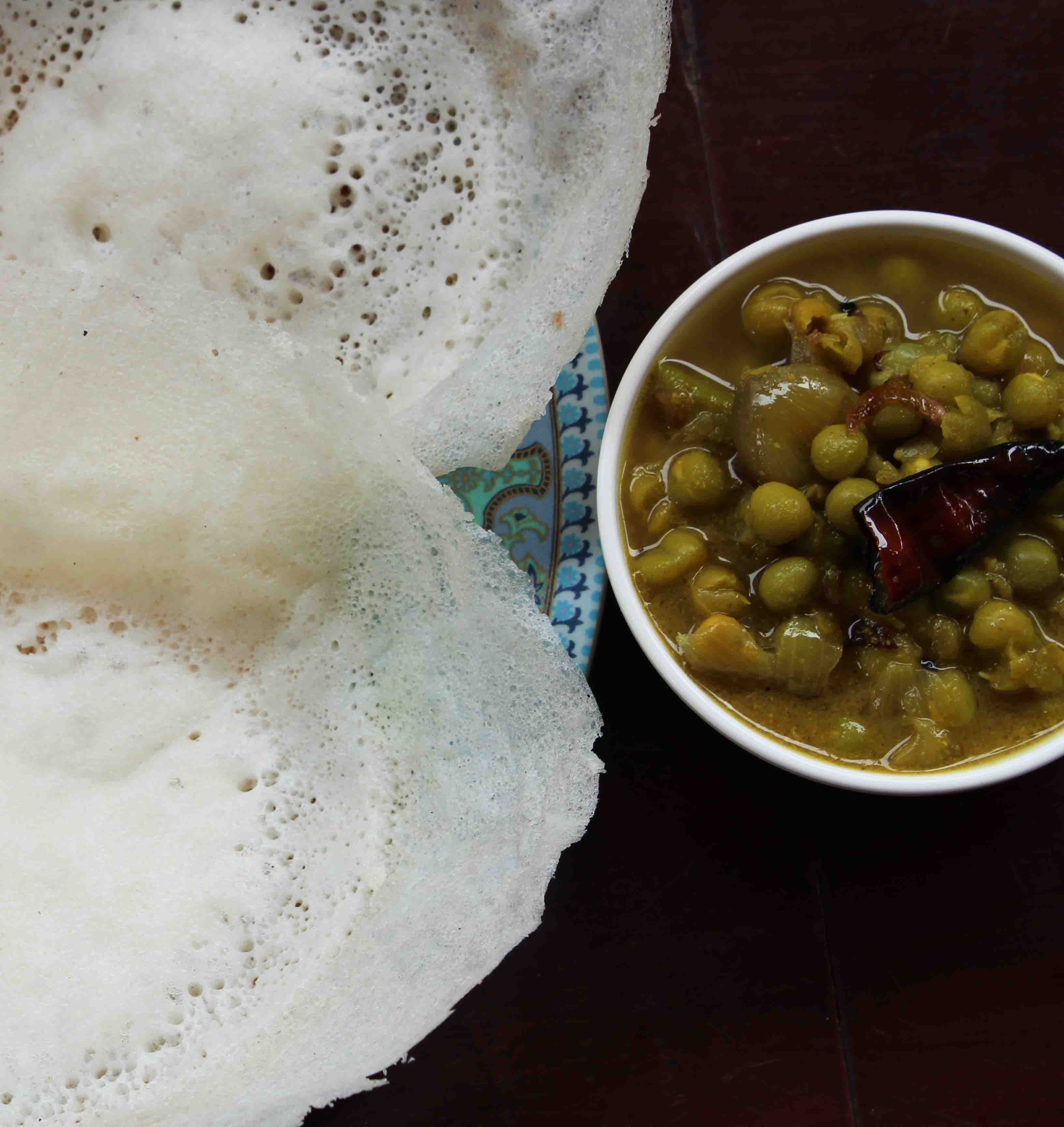 Green Peas Curry & Appam(Hoppers)