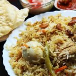 spicy chicken and egg biriyani