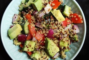 Quinoa, Cucumber & Avocado Salad