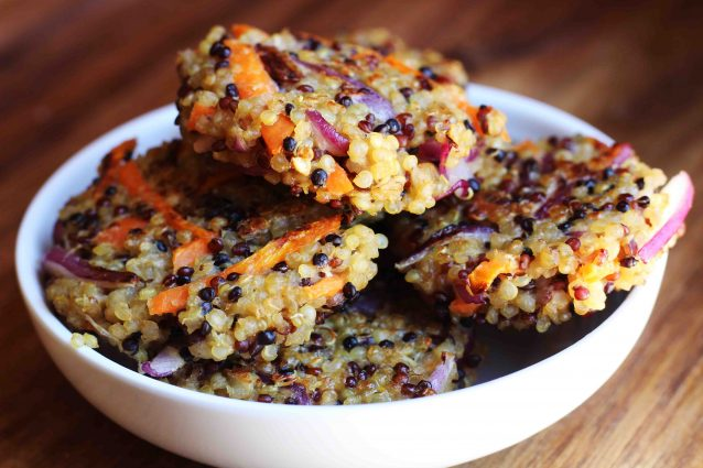 Crispy Quinoa & Vegetable Patties