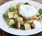 Apple Avocado Quinoa & Minted Yogurt Salad