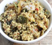 Curried Eggplant & Quinoa
