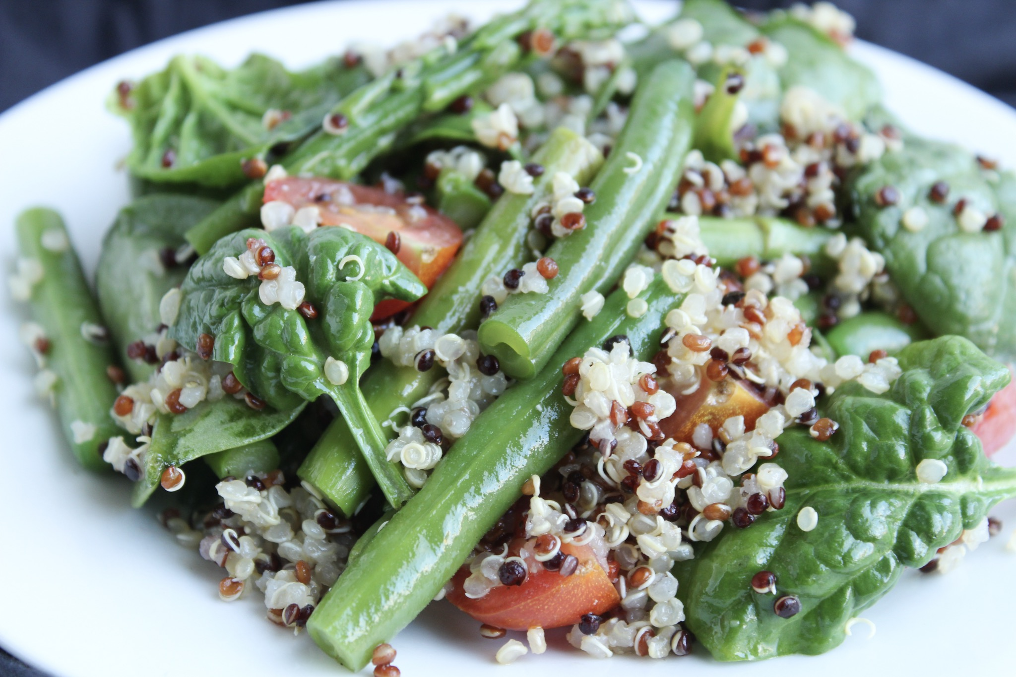Quinoa Salad With Asparagus & Green Beans