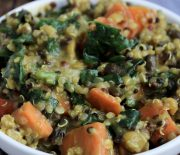 Vegan Vegetable, Split Pea & Quinoa Stew