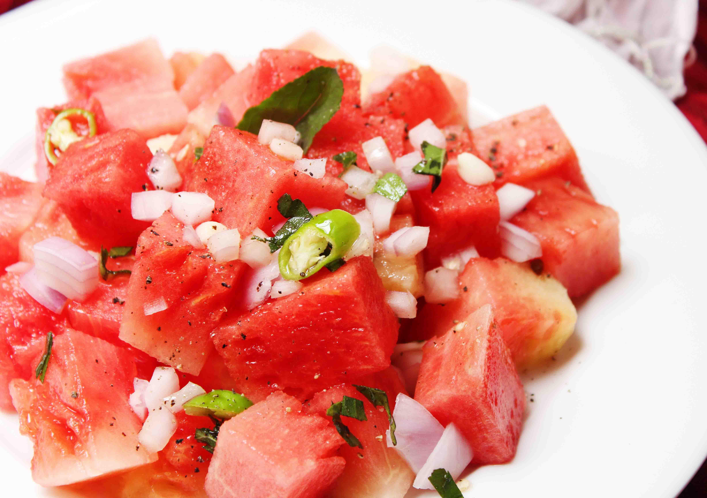 spicy watermelon salad