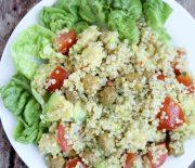 Soy Chunks, Avocado & Quinoa Salad