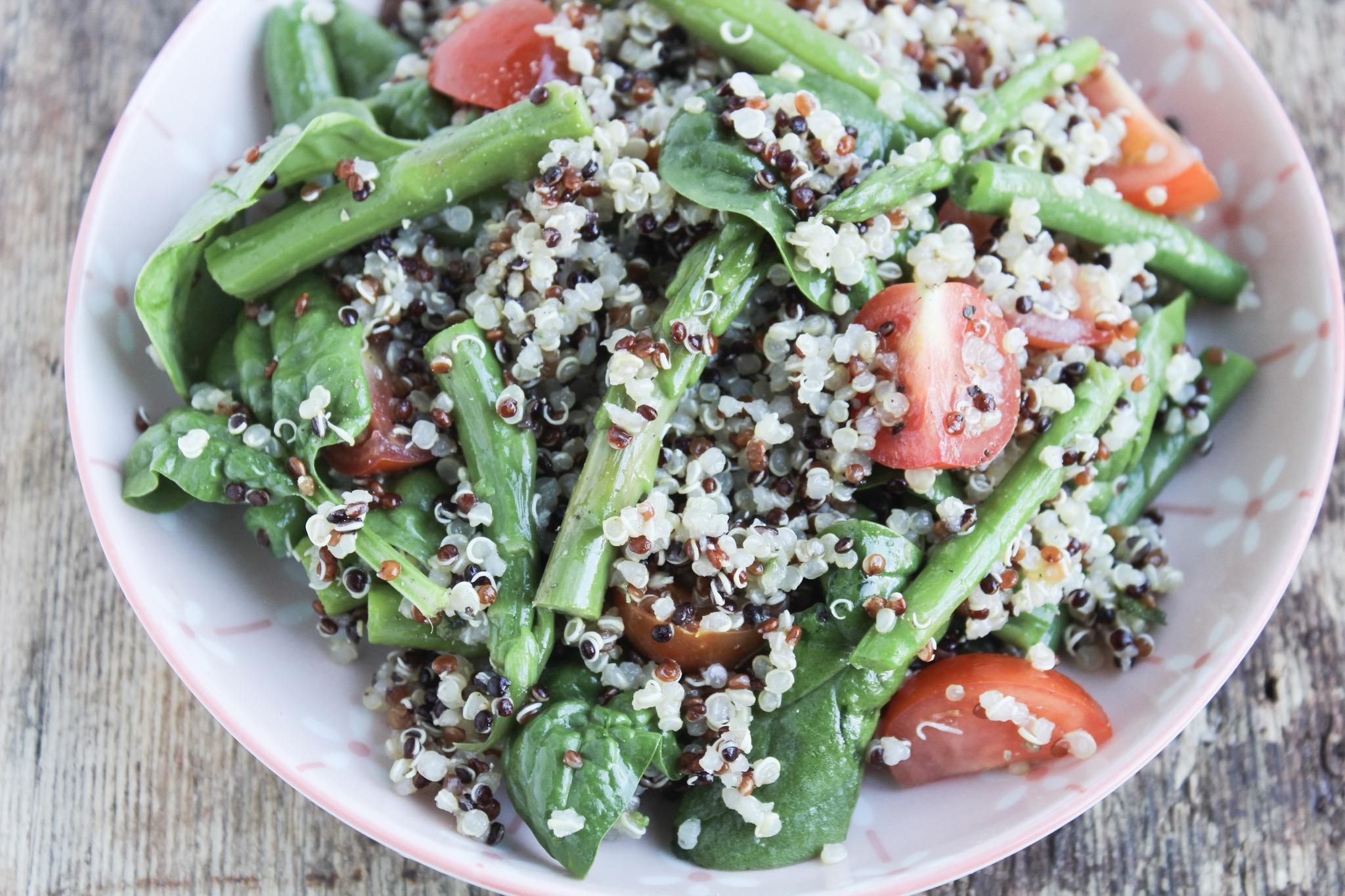 Quinoa Salad With Asparagus & Green Beans