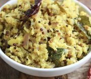 Cauliflower & Quinoa Stir Fry, South Indian Style
