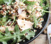 Quinoa Salmon & Herbs Salad