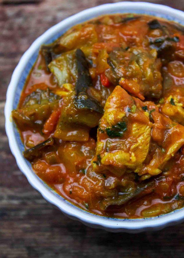 Baingan Chicken / Eggplant & Chicken