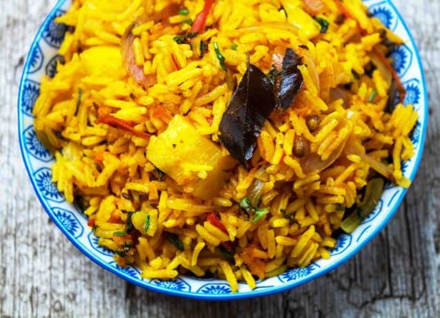 Spicy Tomato & Potato Rice